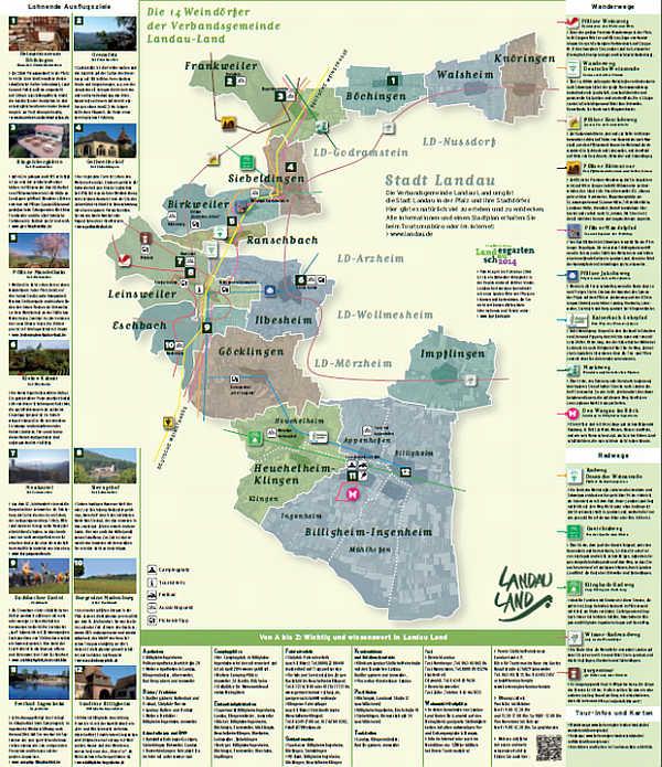 Meine Landau Land Karte Neues Printprodukt Der Wein Und