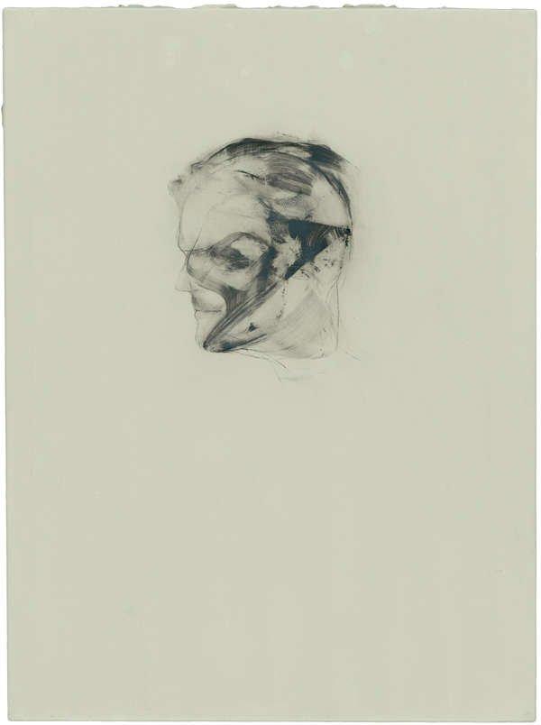 Lukas Schmenger Selbstportrait 2011 Öl auf Aluminium 28 x 21 cm