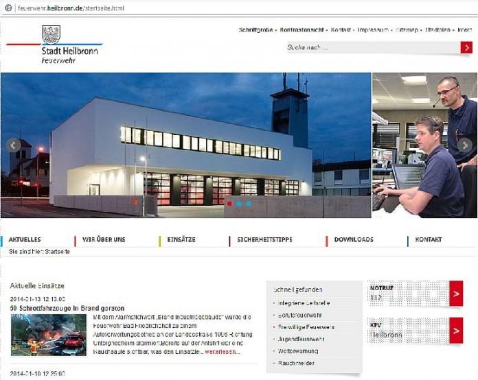 Feuerwehr Heilbronn Mit Neuer Webseite Im Einsatz
