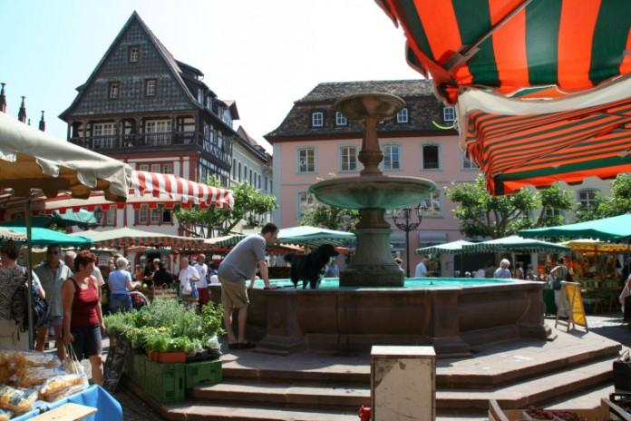 Der Wochenmarkt in Neustadt an der Weinstraße (Foto: Rolf Schädler)