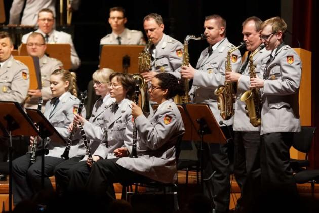 Die vier Saxophonisten bei einem Solo