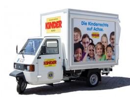 Das Kinderrechte-Mobil des Kinderbüros (Foto: Fernando Baptista/Kinderbüro Frankfurt am Main)