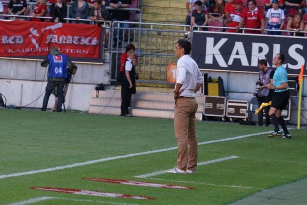 FCK-Trainer Tayfun Korkut (Foto: Holger Knecht)