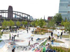 Skateranlage im Hafenpark (Foto: Grünflächenamt, Stadt Frankfurt am Main)