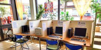 """Das Internetcafe des Sozialen Kaufhaus """"fairness"""" (Foto: Lebenswerk eG)"""