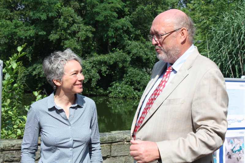 Dr. Ina Hartwig mit Prof. Niekisch