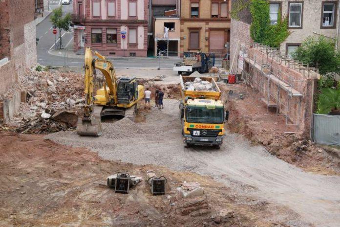 Baustelle in der Teichstraße 7 (Foto: Holger Knecht)