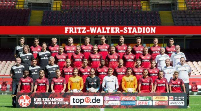 FCK-Mannschaftsfoto Profis 2016/2017 (Foto: 1. FC Kaiserslautern)