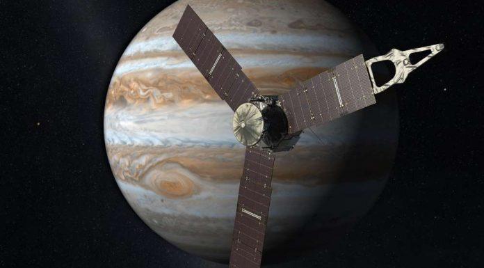 Die NASA-Sonde soll am Wochenende einzigartige Bilder vom Planeten Jupiter aufnehmen. Quelle: NASA