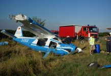 Das beschädigte Flugzeug (Foto: Holger Knecht)
