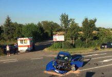 Zwei PKW kollidierten (Foto: Feuerwehr Neustadt)
