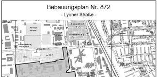 Geltungsbereich B-Plan Nr. 872 (Foto: Stadtvermessungsamt Frankfurt am Main)