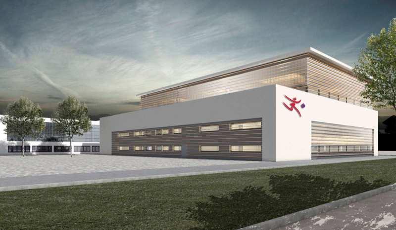 Die neue Sporthalle (Foto: Landessportbund Hessen)