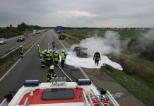 Foto von der Einsatzstelle (Foto: Feuerwehr Haßloch)