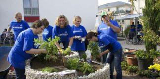 Projekt vom vergangenen Freiwilligentag in der Metropolregion Rhein-Neckar (Foto: Metropolregion Rhein-Neckar GmbH
