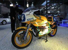 Mit dieser BMW gingen die Motorradrennfahrer beim Flugplatzrennen in Speyer an den Start (Foto: Martin Sonnick)