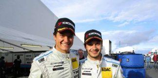Die Brüder Dominik und Mario Farnbacher (rechts) sorgten auf dem Nürburgring für einen historischen Lexus-Sieg (Foto: Martin Sonnick)