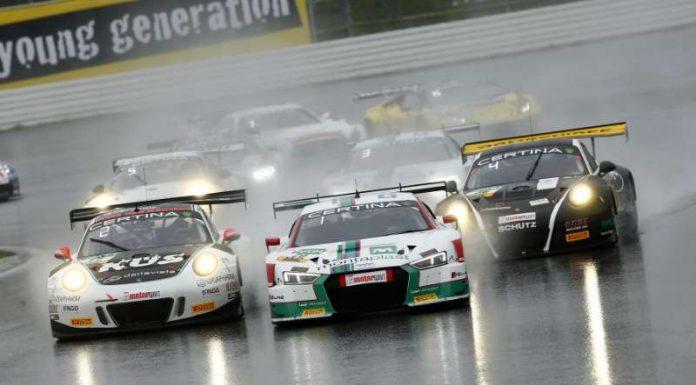 Porsche, Audi, Porsche: die spätere Top Drei kurz nach dem Start (Foto: ADAC Motorsport)