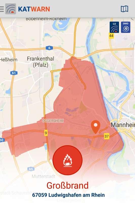 Die Warnmeldung für Mannheim wurde aufgehoben, für Ludwigshafen bleibt sie bestehen