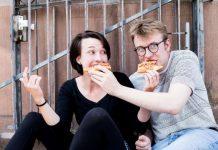 Probenfoto mit Lea Wittig und Stefan Wunder (Foto: Annemone Taake)