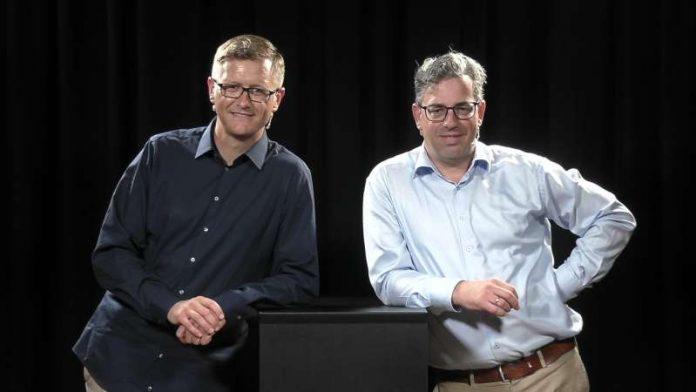 Webinar Musikrecht, Prof. Dr. Hanno Fierdag und Prof. Asterix Westphal (Foto: Popakademie Baden-Württemberg)