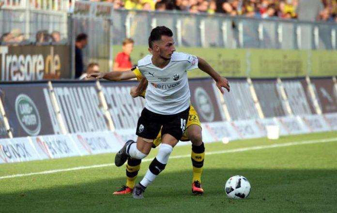 Leart Paqarada absolviert zwei Länderspiele, weilt im Kreise der Nationalmannschaft des Kosovo. (Foto: SV Sandhausen)