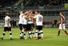 Tim Kister stand nach seinem Tor beim vergangenen Heimspiel gegen Dresden im Mittelpunkt. Ob der Innenverteidiger nach überstandener Angina gegen den FC St. Pauli am Samstag aufläuft, ist allerdings noch ungewiss. (Foto: SV Sandhausen)
