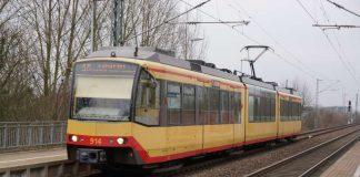 Straßenbahn bei Wörth (Foto: Holger Knecht)
