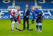 Marcus Kink #17 / Adler , Daniel Hopp, Sascha Goc, Promo DEL Wintergame 2017, DEL Eishockey Adler Mannheim 2016 / 2017, (Foto: AS Sportfoto / Soerli Binder)