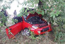 Die Fahrerin wurde schwer verletzt (Foto: Feuerwehr Germersheim)