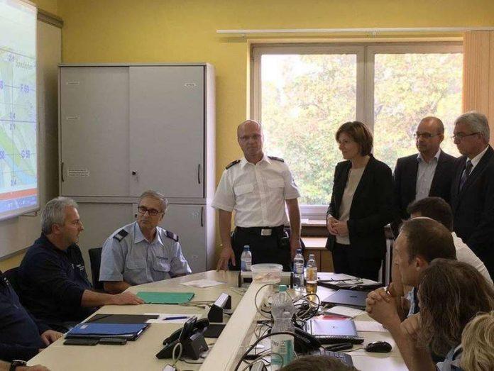 Information in Ludwigshafen vor Ort (Foto: Staatskanzlei RLP)