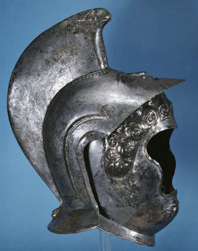 Römischer Gesichtshelm aus Heddernheim, Ende 2. Jh. bis Mitte 3. Jh. n. Chr. (Foto: Archäologisches Museum Frankfurt)