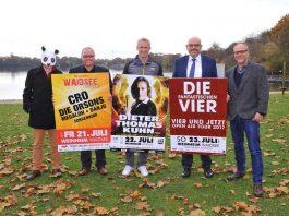 Weinheim freut sich auf das Konzertwochenende im Juli 2017 – Badebetrieb am Waidsee weitgehend ohne Einschränkungen möglich