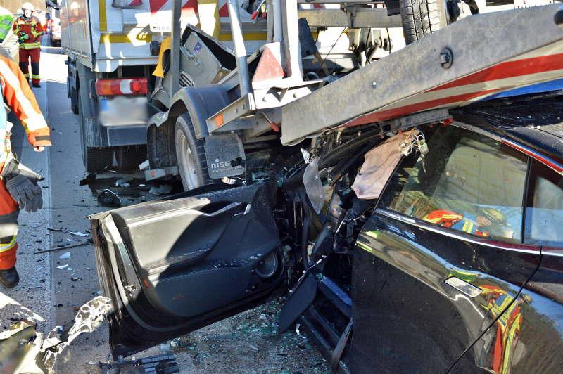 Ein Bild der Verwüstung - Die Unfallstelle