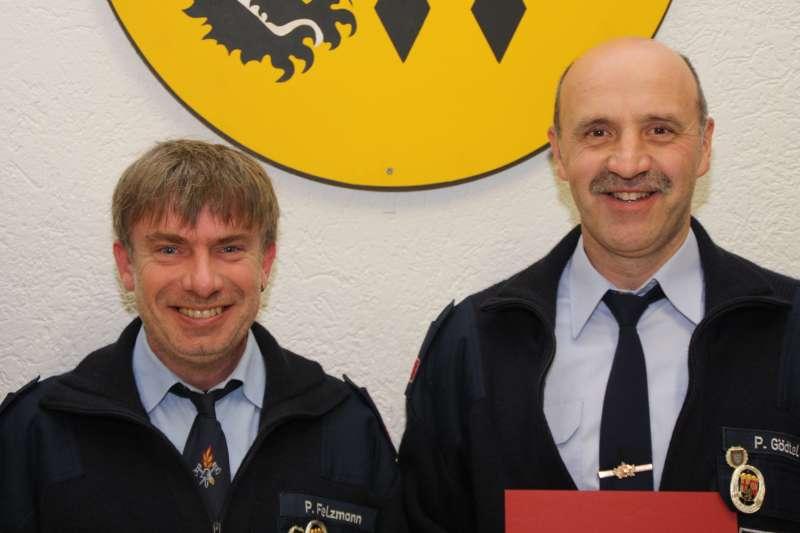 Patric Felzmann und Peter Gödtel. (Foto: Feuerwehr VG Otterbach-Otterberg)