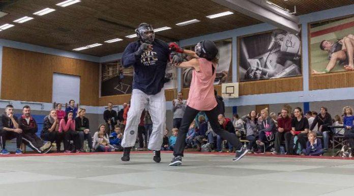 Street Combatives Vorführung beim Tag der offenen Tür des Polizeisportvereins (Foto: Needham)
