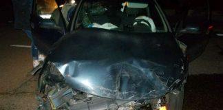 Das unfallbeschädigte Auto (Foto: Polizei)