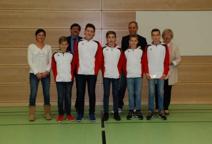 Team des Wilhelm-von-Humboldt-Gymnasiums Ludwigshafen (Foto: Unfallkasse Rheinland-Pfalz)