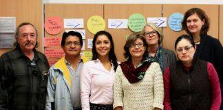 Die Delegation aus Chiapas bei ihrem Besuch in Germersheim mit Prof. Dr. Martina Schrader-Kniffki (hinten links) und dem Projektteam des FTSK (Foto: Michal Ziolkowski)