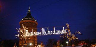 Der Weihnachtsmarkt am Wasserturm (Foto: Stadt Mannheim / Fotograf: Johannes Paesler)