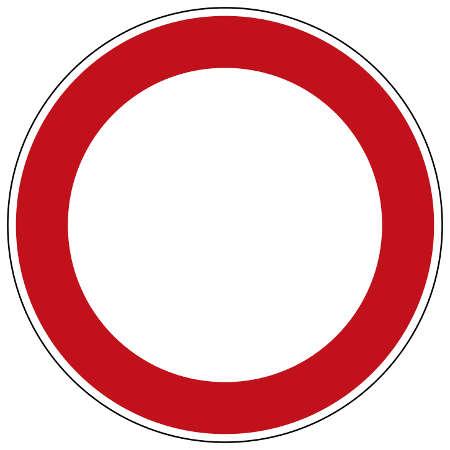 Zeichen 250: Verbot für Fahrzeuge aller Art