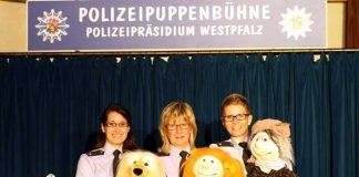Das Team der Polizeipuppenbühne: Melanie Paul, Claudia Bauspieß und Yvonne Morzik (von links)