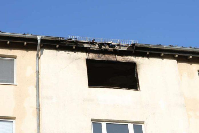 Brand Johannes-Calvin-Straße (Foto: Stadtverwaltung Ingelheim)