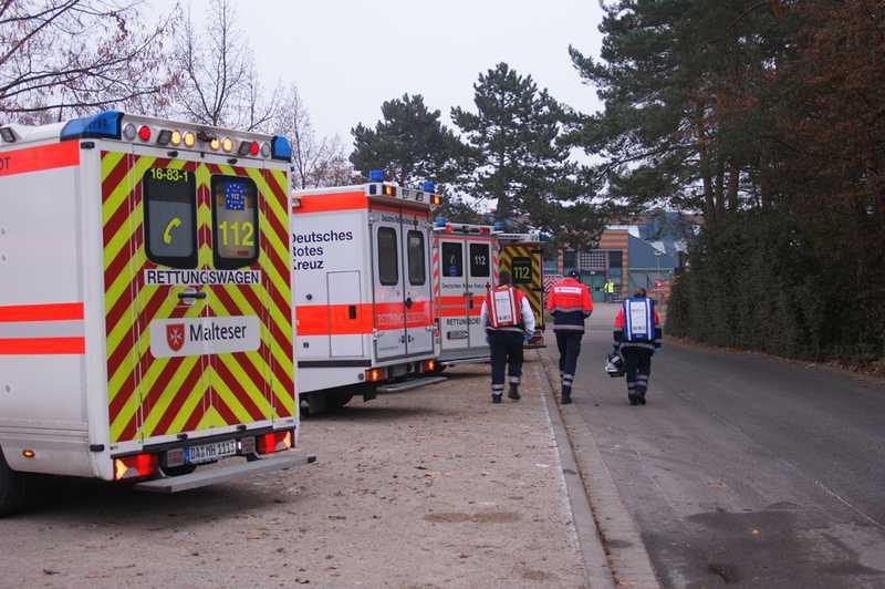 Auf Grund der großen Anzahl von Betroffenen wurde ein Massenanfall von Verletzten ausgerufen.