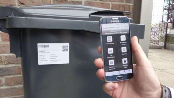 Abfallkalender-App mit QR-Code (Foto: Kreisverwaltung RPK)