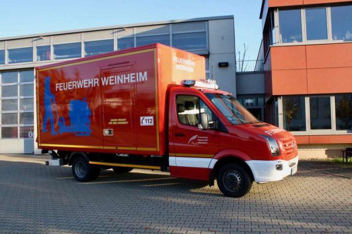 Der neue Gerätewagen Transport (Foto: Feuerwehr Weinheim)