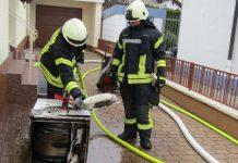 Wohnhausbrand in den Falkenweg (Foto: Feuerwehr Haßloch)