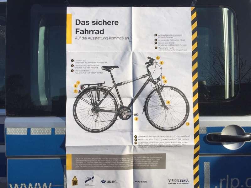 So sieht ein sicheres Fahrrad aus (Foto: Polizei)