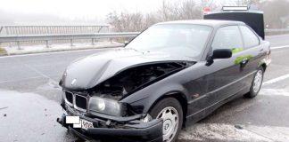 Der beschädigte BMW (Foto:Polizei)