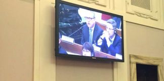 Oberbürgermeister Dr. Peter Kurz bei seinen Ausführungen im Rahmen des Gipfeltreffens der Bürgermeister im Vatikan. (Foto: Stadt Mannheim)